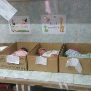 Newborn babies in cardboard boxes in Venezuelan hospital