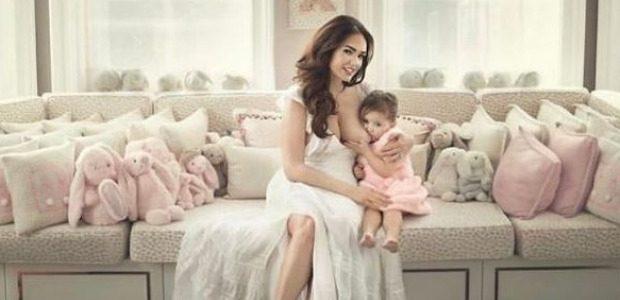 "Model is ""still"" breastfeeding her two year old girl"