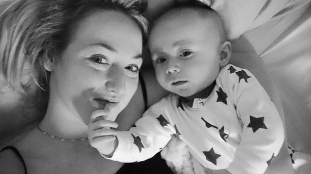 Young mum says her baby saved her life by finding her breast cancer